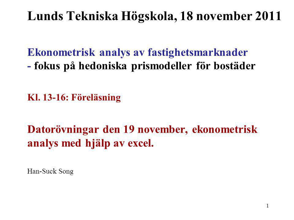 12 Vad är då ekonometri (econometrics).