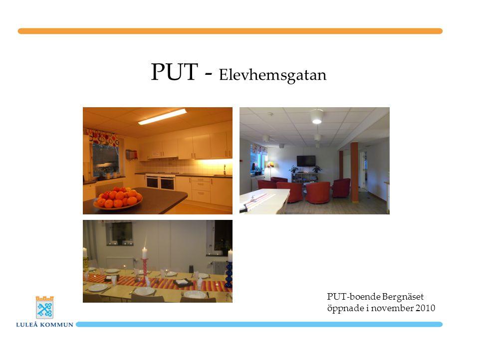 PUT - Elevhemsgatan PUT-boende Bergnäset öppnade i november 2010