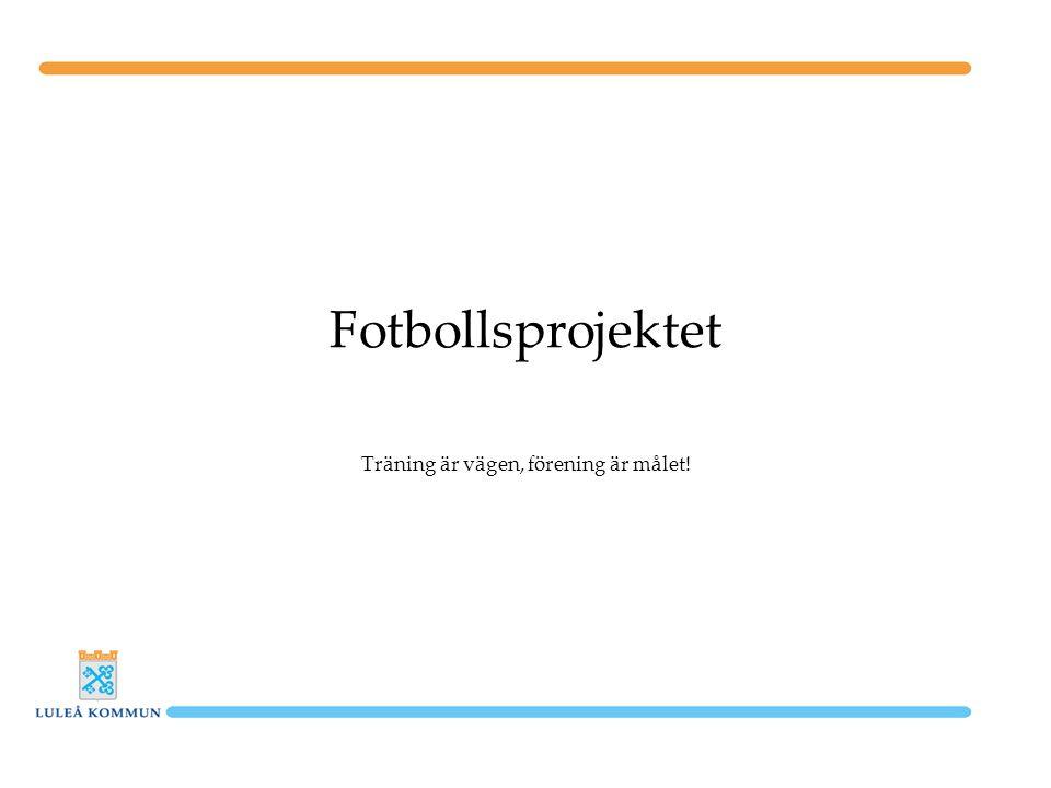 Fotbollsprojektet Träning är vägen, förening är målet!