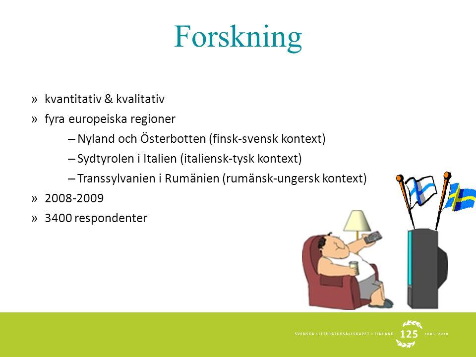 Forskning » kvantitativ & kvalitativ » fyra europeiska regioner – Nyland och Österbotten (finsk-svensk kontext) – Sydtyrolen i Italien (italiensk-tysk