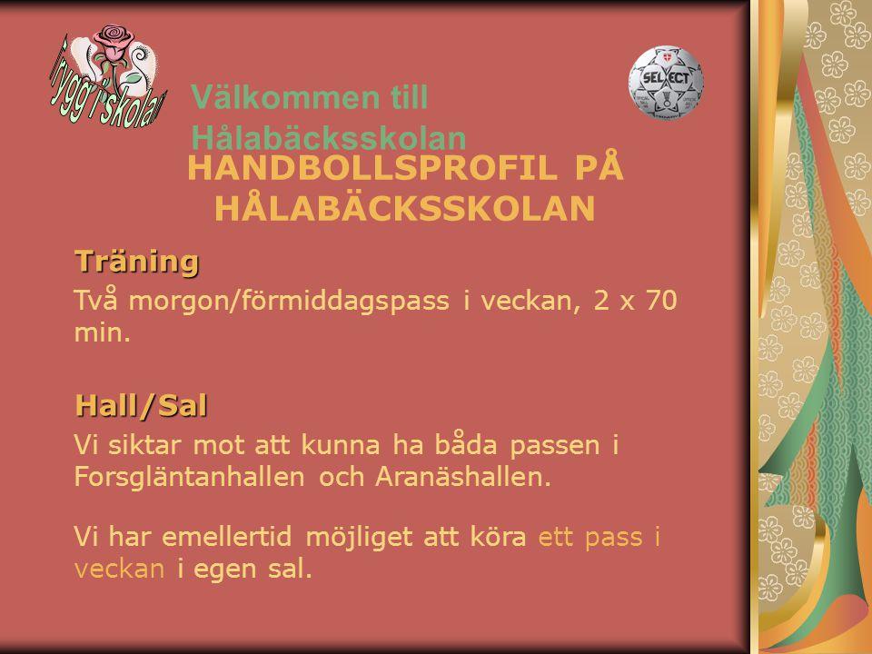 Välkommen till Hålabäcksskolan Vi har emellertid möjliget att köra ett pass i veckan i egen sal.