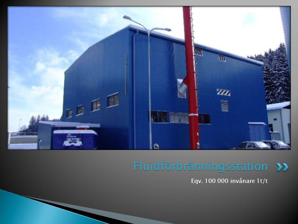 Eqv. 100 000 invånare 1t/t Fluidförbränningsstation