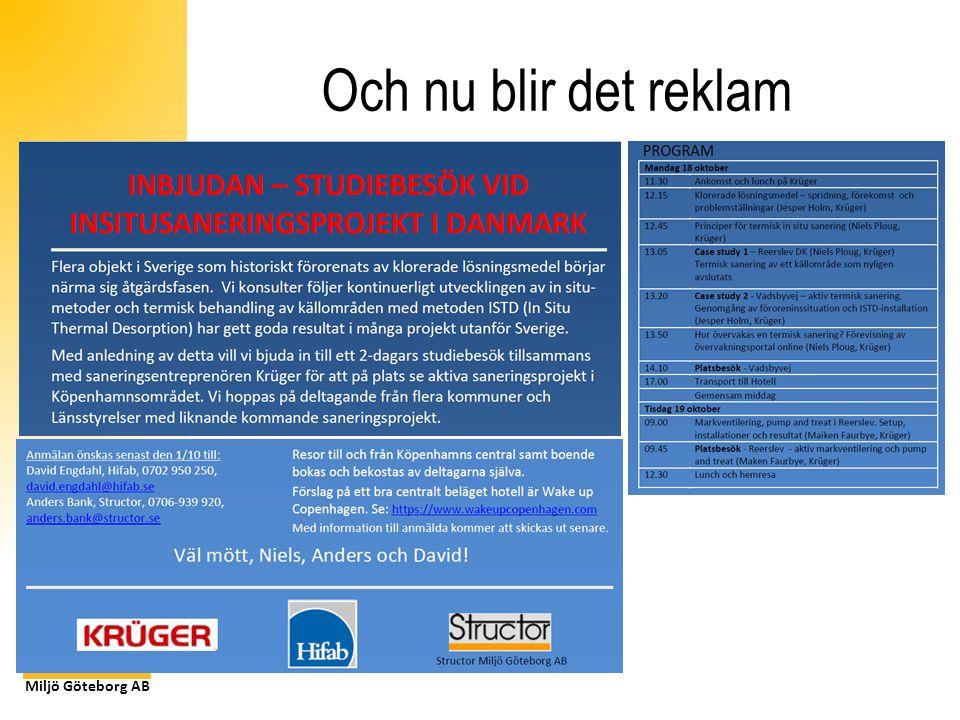 Miljö Göteborg AB Och nu blir det reklam