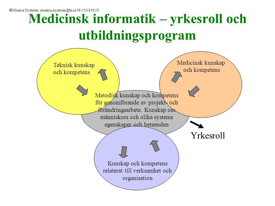 Kursen - Vårdens organisation och ledning, 4p Syfte/Mål Kursen ska ge en övergripande förståelse för vårdorganisationers särskilda villkor och möjligheter till kvalitetsutveckling samt hur detta kan gagnas av IT och medicinsk informatik.