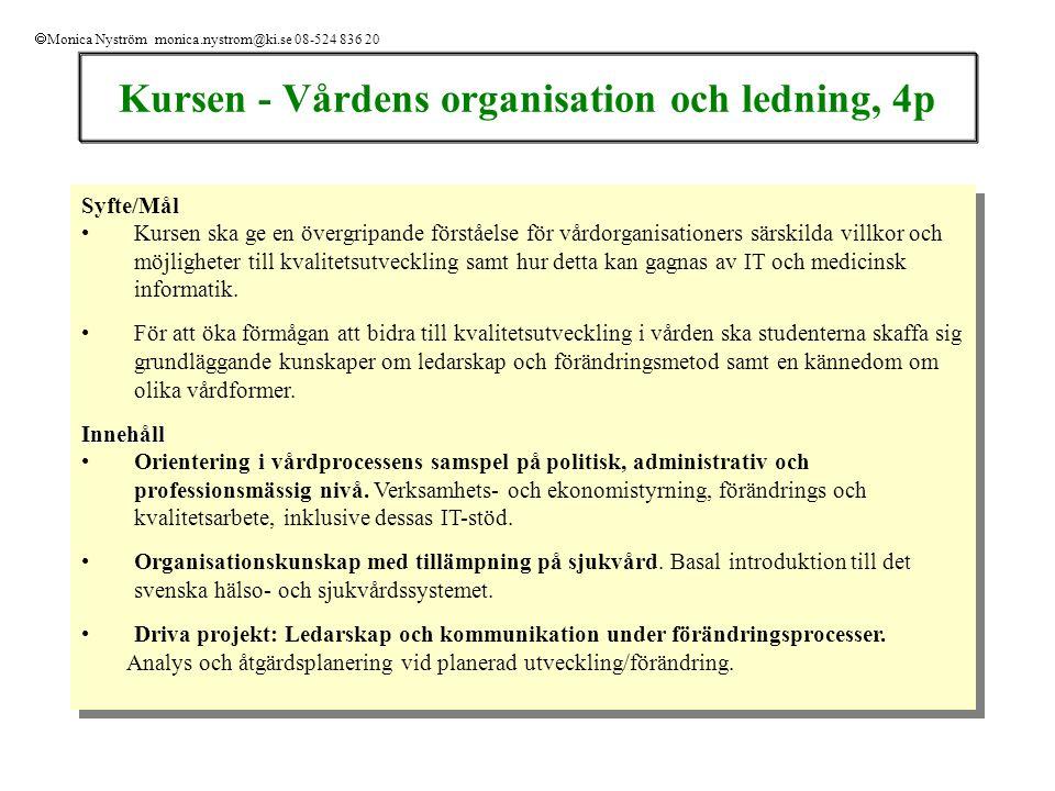 Examinationsuppgifter 1.Hemtenta: Se webb: Examinationsuppgift hemtenta.
