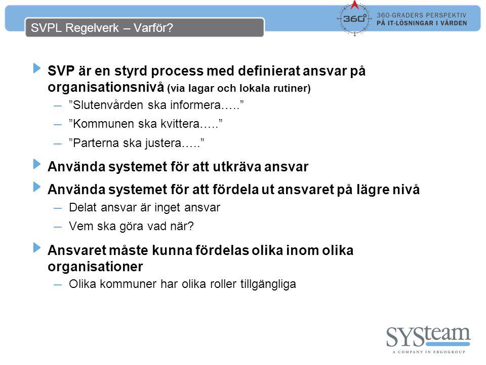 SVPL Regelverk – Varför.