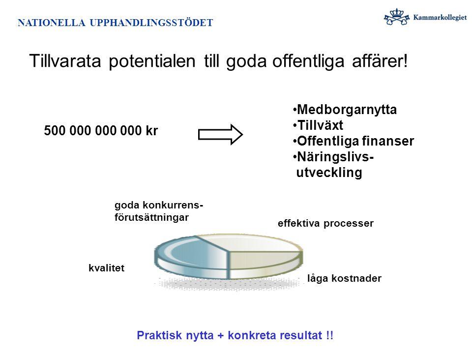 NejJa Utveckla systemstöd för den interna processen hos de upphandlande myndigheterna.