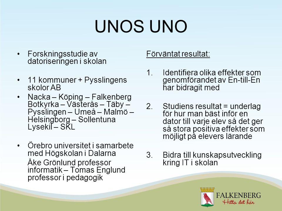 Forskningsstudie av datoriseringen i skolan 11 kommuner + Pysslingens skolor AB Nacka – Köping – Falkenberg Botkyrka – Västerås – Täby – Pysslingen –