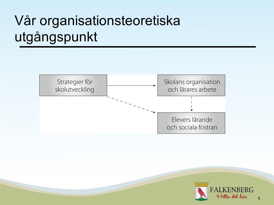 Vår organisationsteoretiska utgångspunkt 4