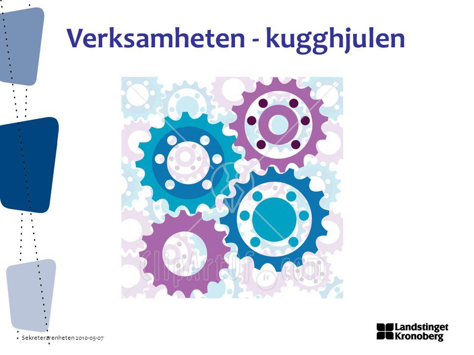 Sekreterarenheten 2010-05-07 Verksamheten - kugghjulen