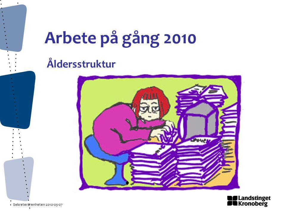 Sekreterarenheten 2010-05-07 Arbete på gång 2010 Åldersstruktur