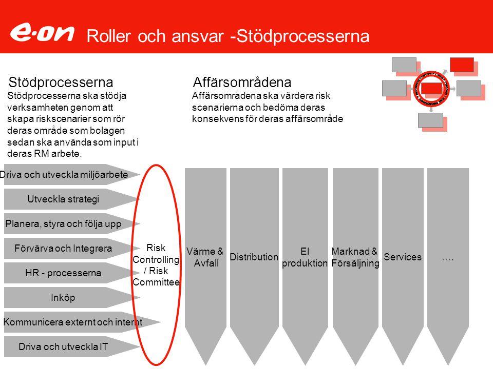 Roller och ansvar -Stödprocesserna Utveckla strategi Planera, styra och följa upp Förvärva och Integrera HR - processerna Inköp Stödprocesserna Driva