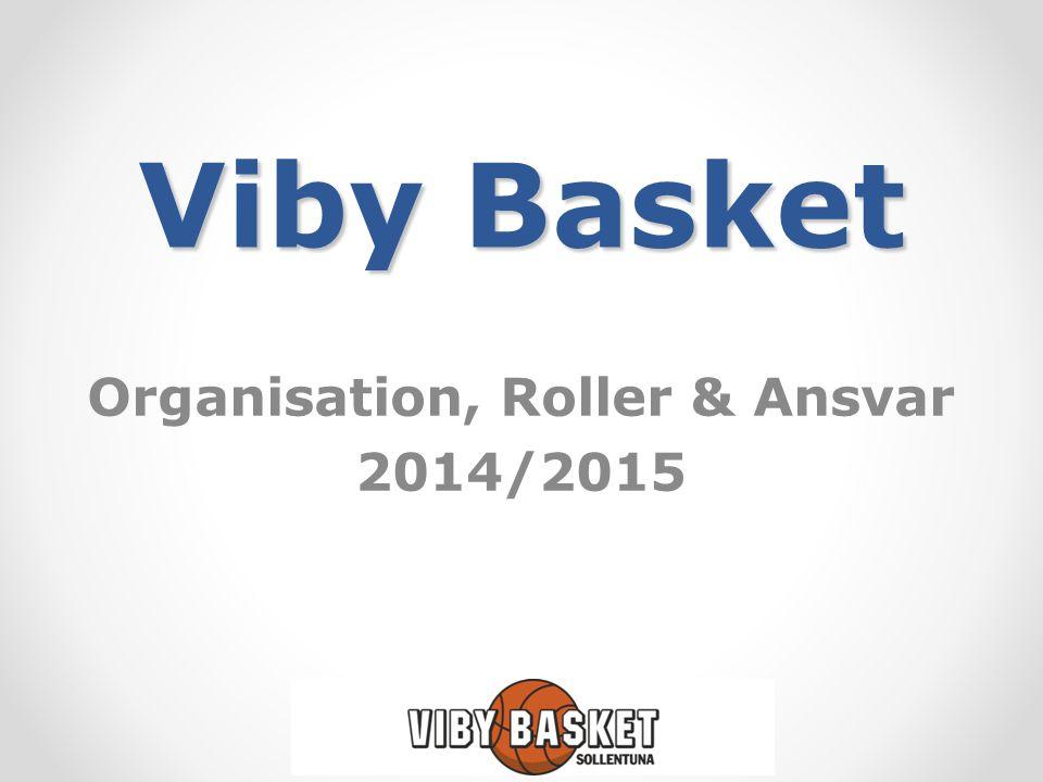 Viby Basket Organisation, Roller & Ansvar 2014/2015