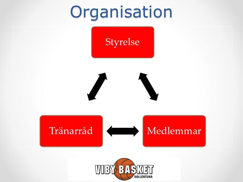 Organisation StyrelseMedlemmarTränarråd