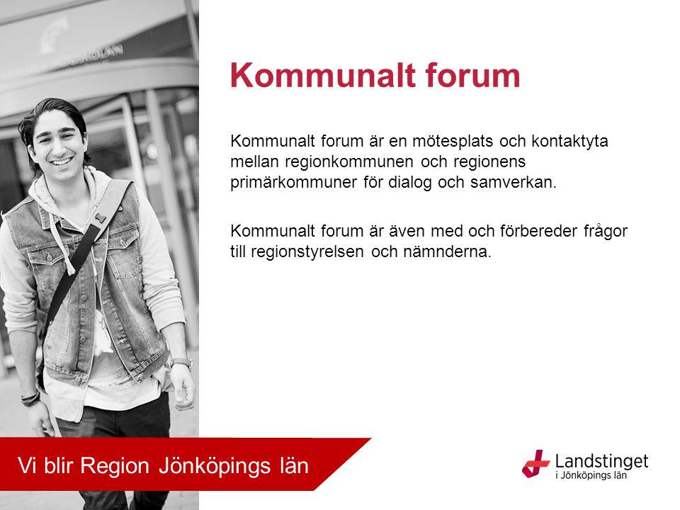 Kommunalt forum är en mötesplats och kontaktyta mellan regionkommunen och regionens primärkommuner för dialog och samverkan. Kommunalt forum är även m