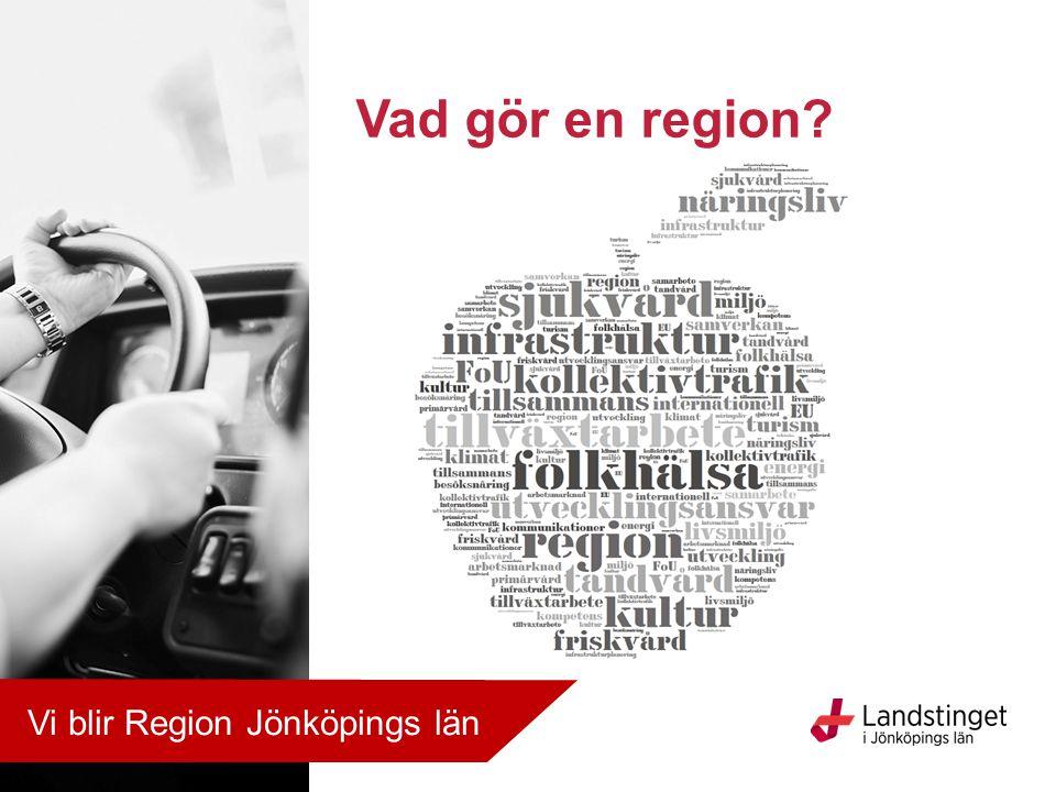 Allt hänger ihop… Region Jönköpings län ansvarar för områden som är avgörande för människors liv och hälsa och för länets tillväxt och utveckling.
