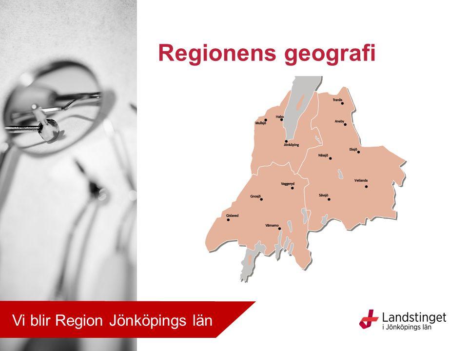 För ett bra liv i en attraktiv region Visionen Vi blir Region Jönköpings län