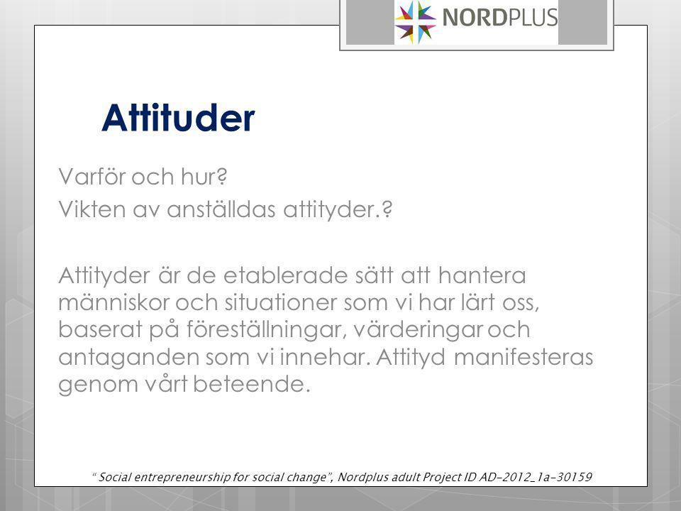 Attituder Varför och hur.Vikten av anställdas attityder..
