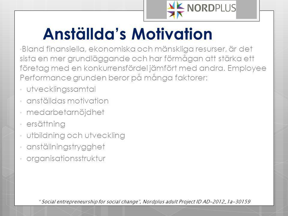 Anställda's Motivation Bland finansiella, ekonomiska och mänskliga resurser, är det sista en mer grundläggande och har förmågan att stärka ett företag med en konkurrensfördel jämfört med andra.