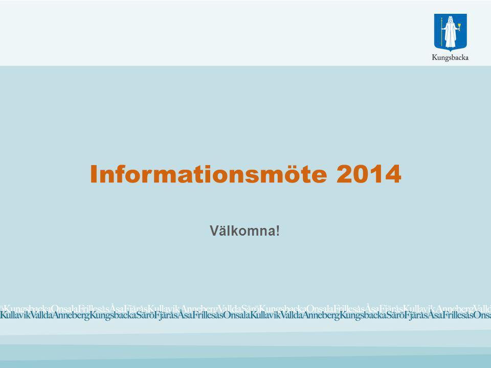 Informationsmöte 2014 Välkomna!