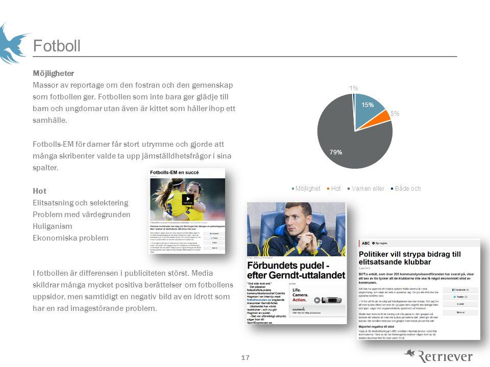 17 Fotboll Möjligheter Massor av reportage om den fostran och den gemenskap som fotbollen ger.