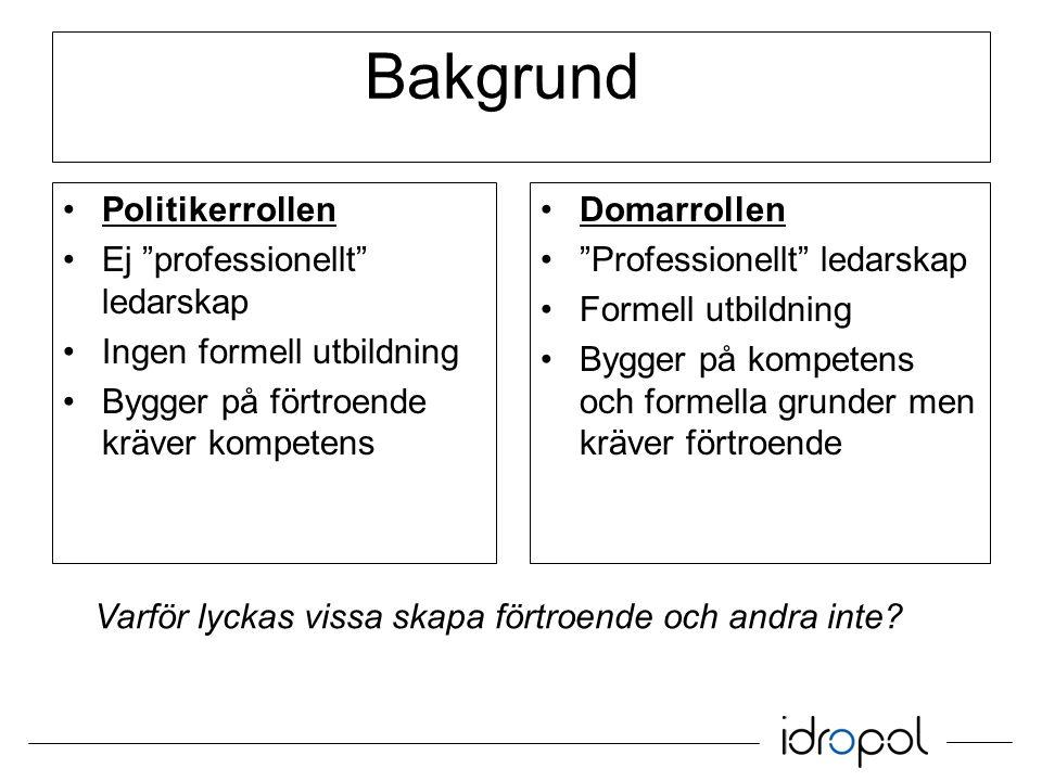 Beslutsfattande Domarrollen Auktoritärt Diktator Jag bestämmer Inget MBL 400-500 beslut/match Snabba ryggmärgsbeslut.