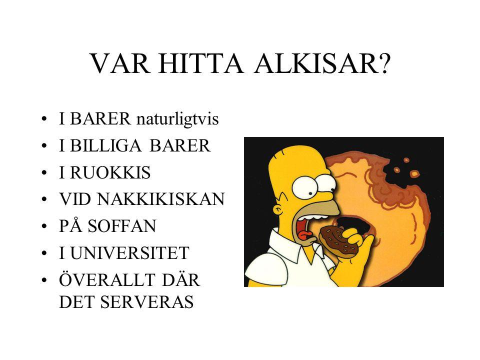 VAR HITTA ALKISAR.