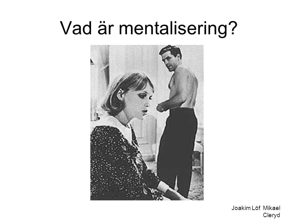 Vad är mentalisering? Joakim Löf Mikael Cleryd