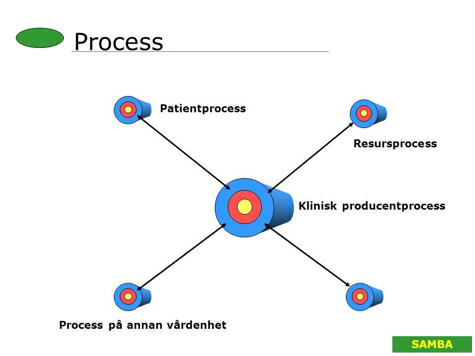 SAMBA Klinisk producentprocess Process på annan vårdenhet Patientprocess Resursprocess Process