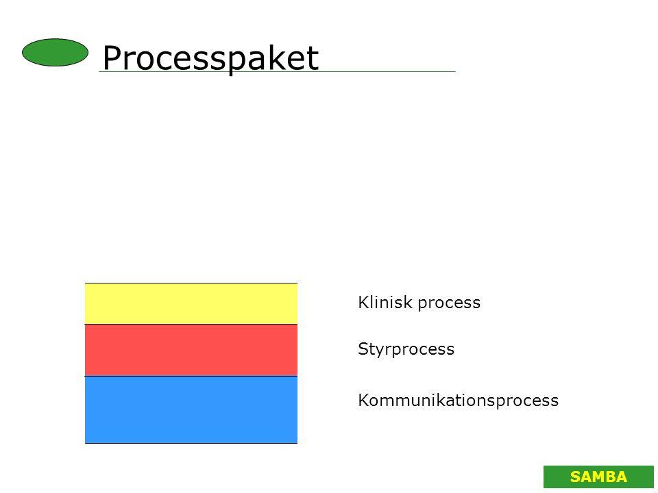 SAMBA Processpaket Klinisk process Styrprocess Kommunikationsprocess