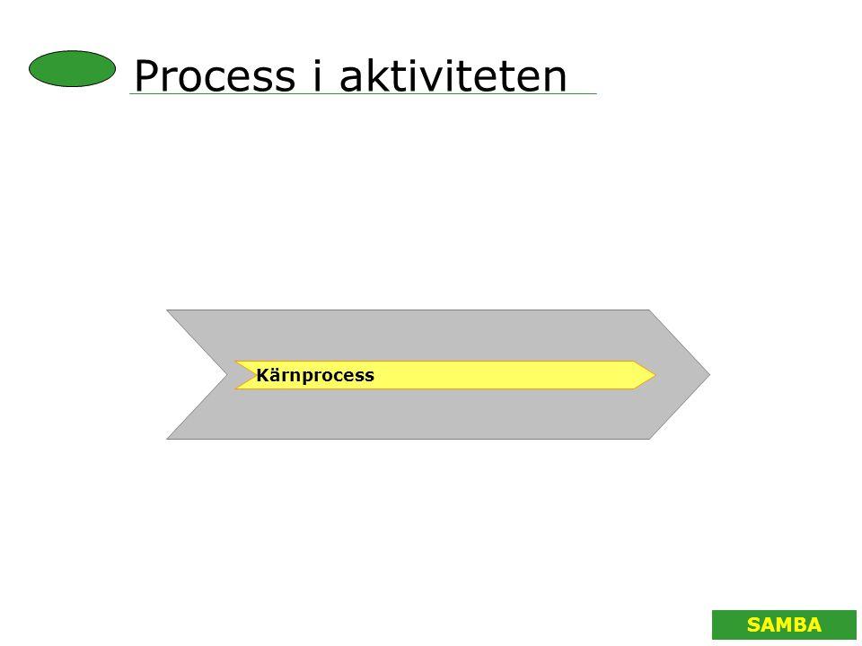 SAMBA Process i aktiviteten Kärnprocess