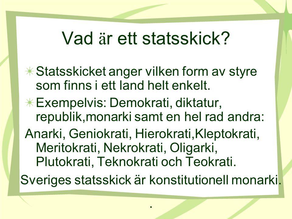 Vad styr hur Sverige skall styras.