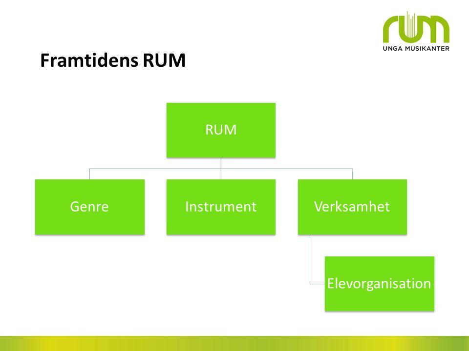 Framtidens RUM RUM GenreInstrumentVerksamhet Elevorganisation