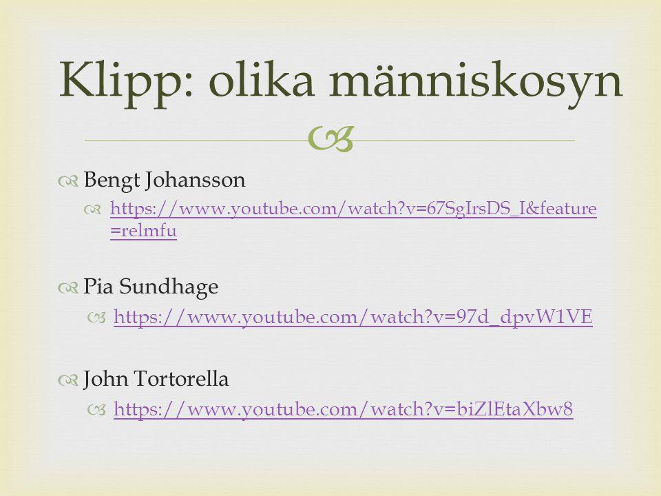   Bengt Johansson  https://www.youtube.com/watch?v=67SgIrsDS_I&feature =relmfu https://www.youtube.com/watch?v=67SgIrsDS_I&feature =relmfu  Pia Su