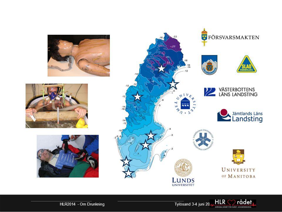 HLR2014 - Om Drunkning Tylösand 3-4 juni 2014 Resuscitering vid hypotermi Livlös