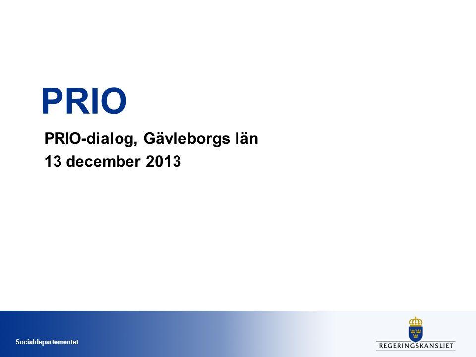 Socialdepartementet PRIO PRIO-dialog, Gävleborgs län 13 december 2013