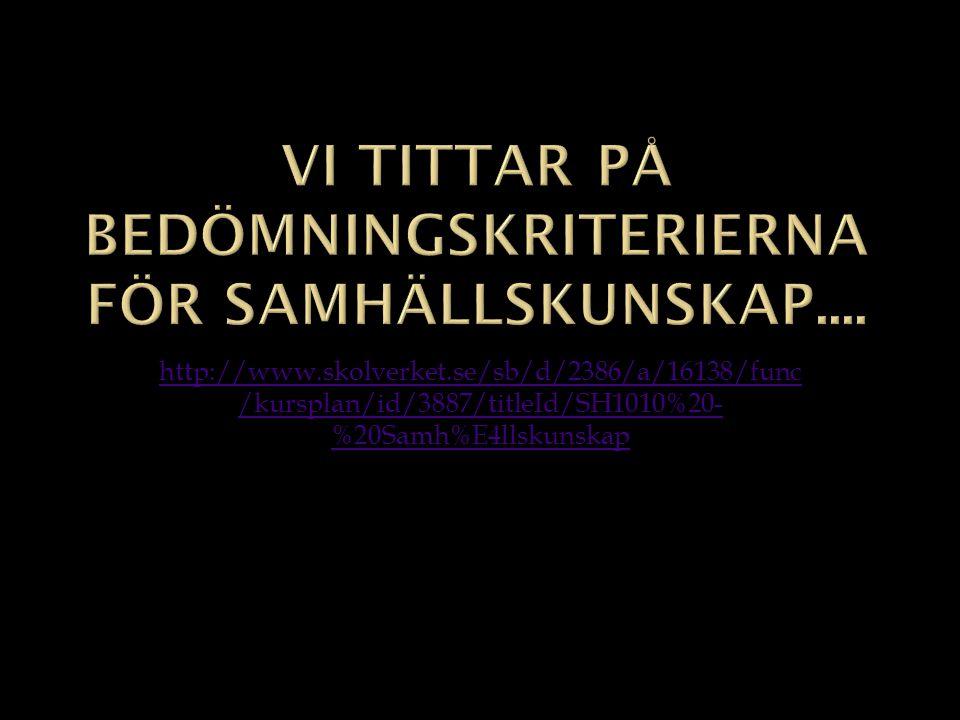 http://www.skolverket.se/sb/d/2386/a/16138/func /kursplan/id/3887/titleId/SH1010%20- %20Samh%E4llskunskap