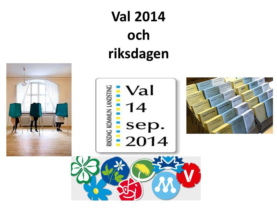 Val 2014 och riksdagen