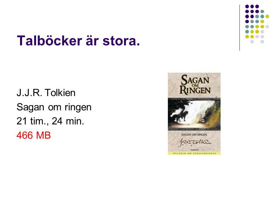 Talböcker är stora. J.J.R. Tolkien Sagan om ringen 21 tim., 24 min. 466 MB