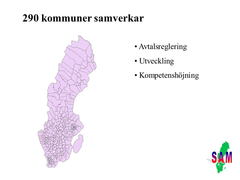 290 kommuner samverkar Avtalsreglering Utveckling Kompetenshöjning
