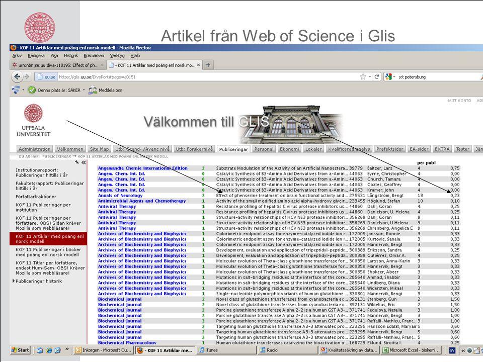 Artikel från Web of Science i Pro Diver