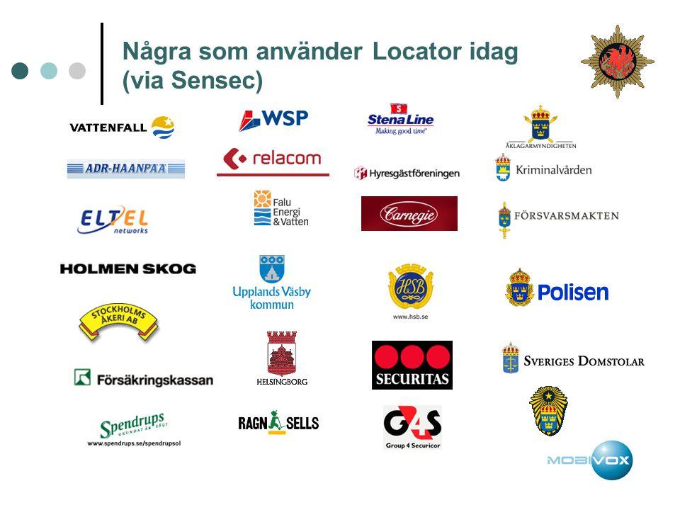 Några som använder Locator idag (via Sensec)