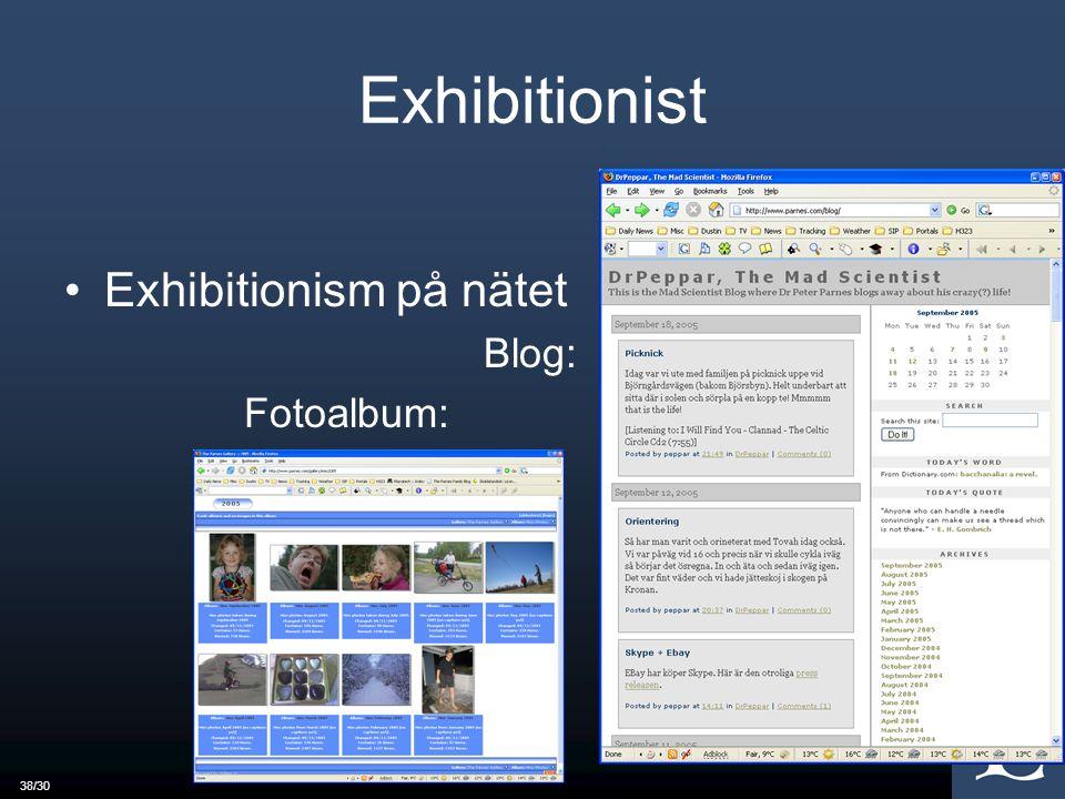 38/30 Exhibitionist Exhibitionism på nätet Blog: Fotoalbum: