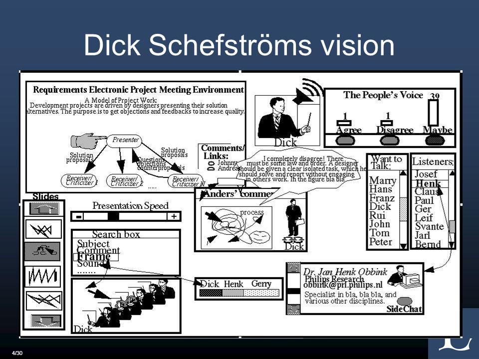 4/30 Dick Schefströms vision