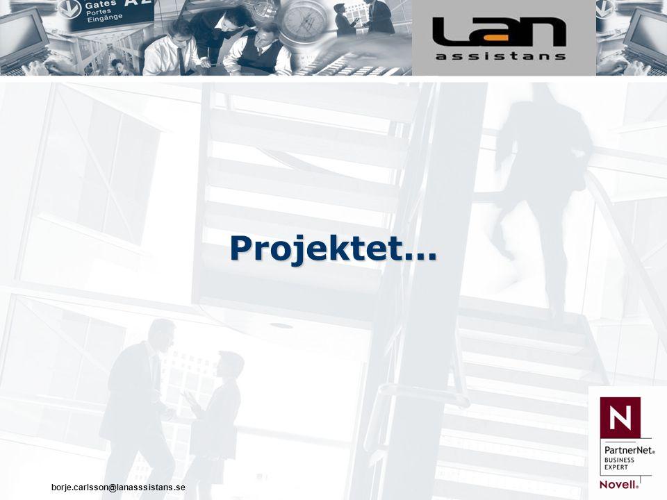 borje.carlsson@lanasssistans.se Projektet...