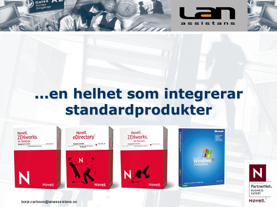 ...en helhet som integrerar standardprodukter