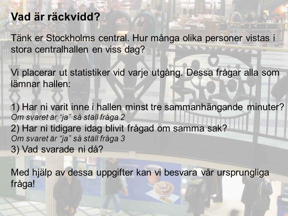 Vad är räckvidd. Tänk er Stockholms central.