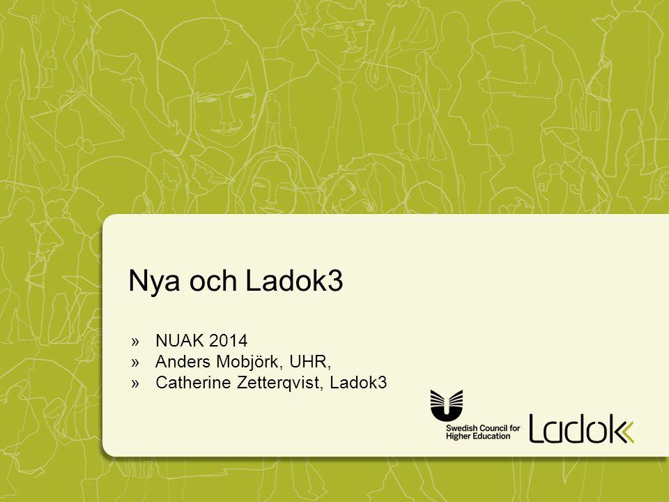 Nya och Ladok3 »NUAK 2014 »Anders Mobjörk, UHR, »Catherine Zetterqvist, Ladok3