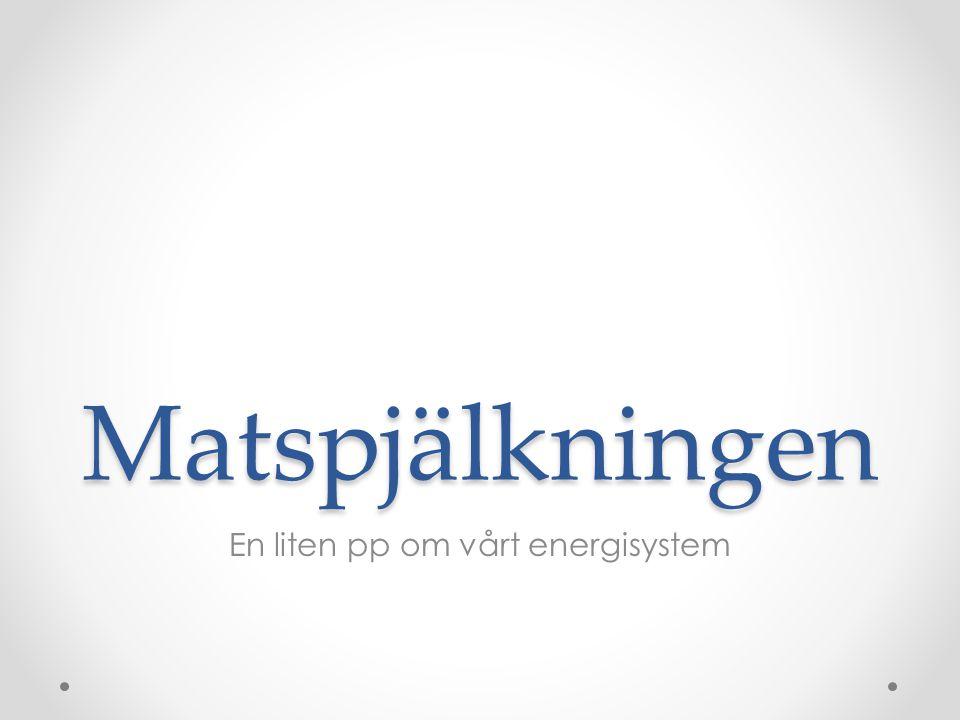 Matspjälkningen En liten pp om vårt energisystem