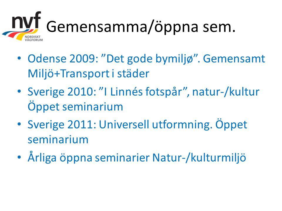Gemensamma/öppna sem. Odense 2009: Det gode bymiljø .